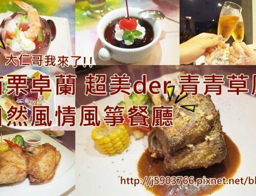 【好食分享】苗栗卓蘭 超美DER青青草原,自然風情風箏餐廳 大仁哥我來了!!